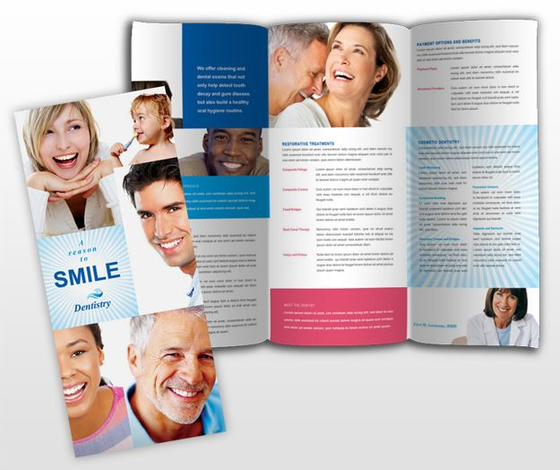 Family Dental Office Brochure Template Webdesign Pinterest