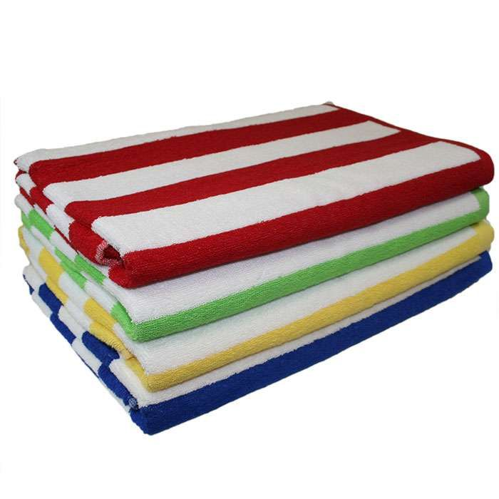 Cabana Striped Loop Terry Beach Towel Beach Towel Pool Towels