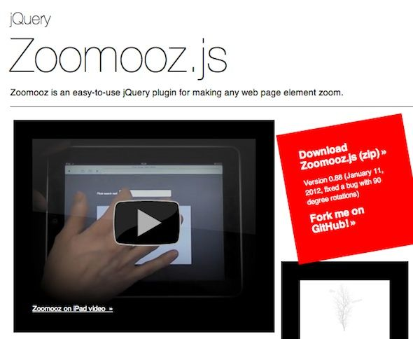 Zoomooz js – easy-to-use jQuery plugin for making any web page
