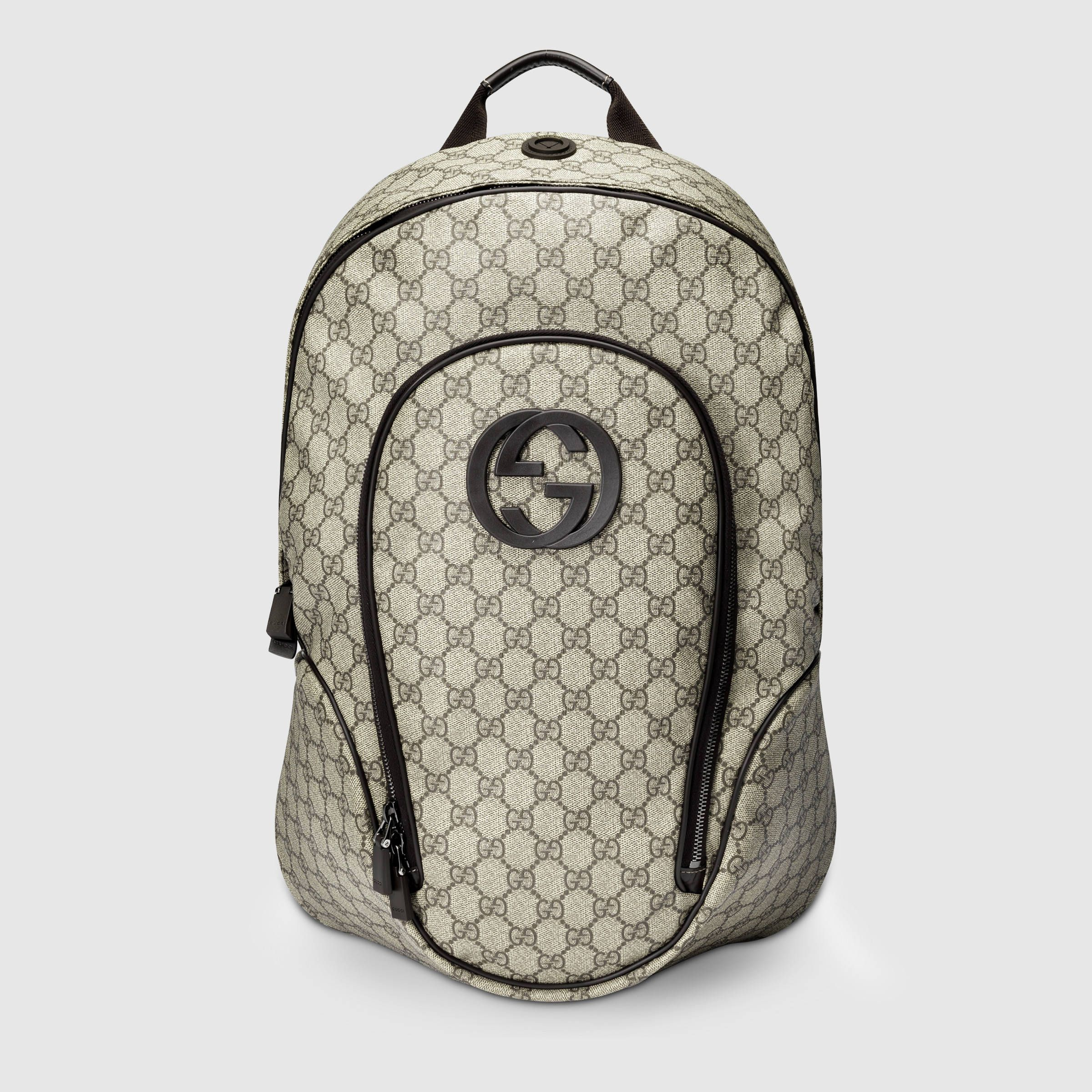 3bc400acbbe576 Gucci Men - GG Supreme interlocking G backpack - 223705KGDAX8588 ...