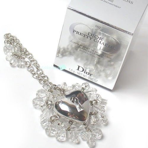 ca9182c24600 Christian Dior Pretty Charms Lip Gloss Makeup Jewel Charm Bracelet Heart  Locket  ChristianDior  heart  locket  130