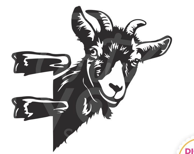 Download Svg Сurious funny goat billy goat ibex animal head with ...