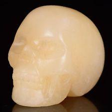 """1.34""""Natural Aventurine Crystal Carved skull Carving..."""
