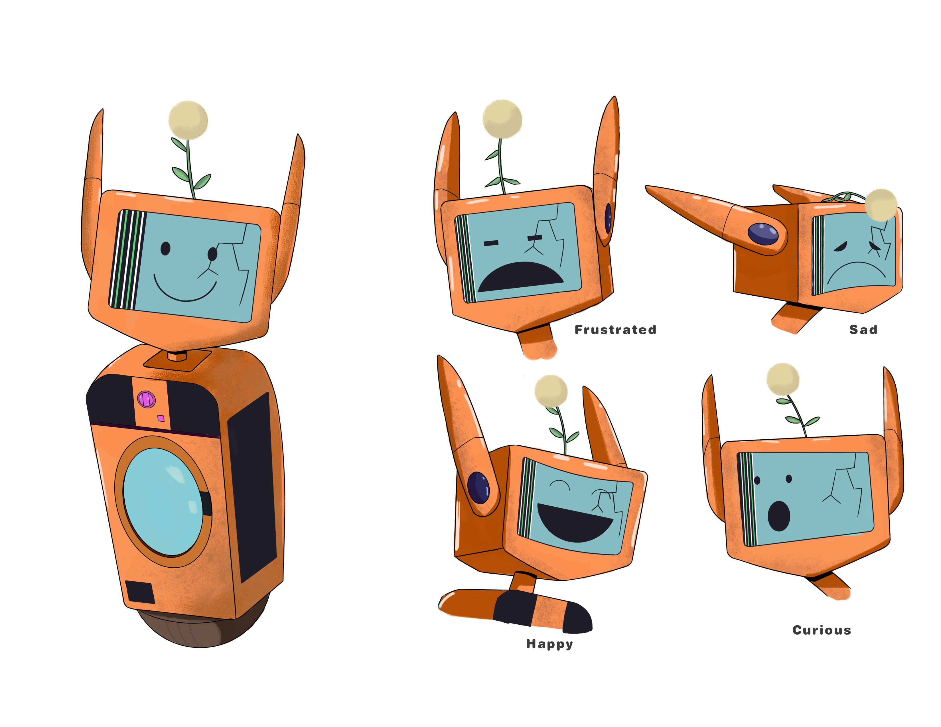 Robot Character Expression Sheet Robots Characters Expression Sheet Science Fiction