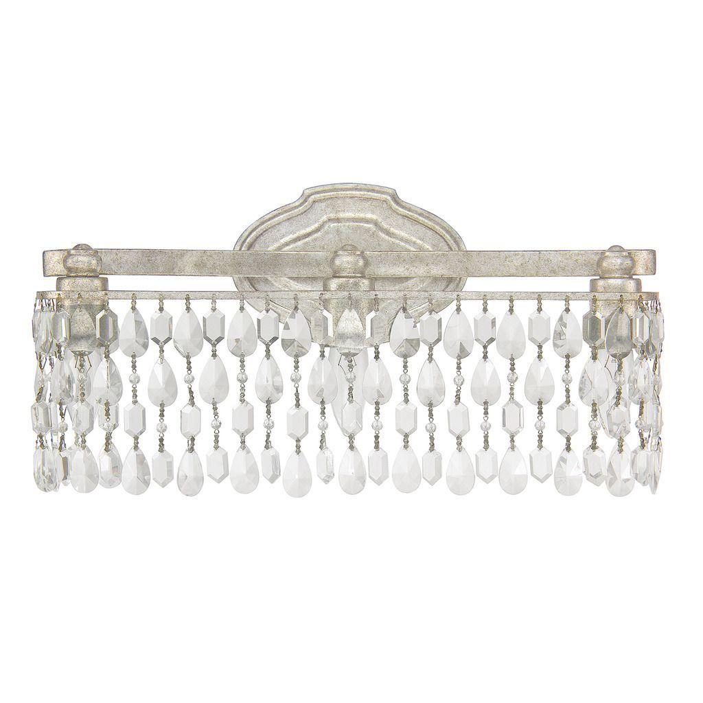 Capital Lighting Traditional 3Light Antique Silver Bathvanity Gorgeous Crystal Vanity Lights For Bathroom Inspiration Design