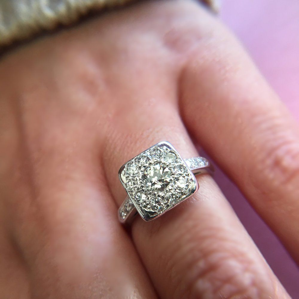 vintage-diamond-cluster-ring.JPG | Wedding Rings | Pinterest ...