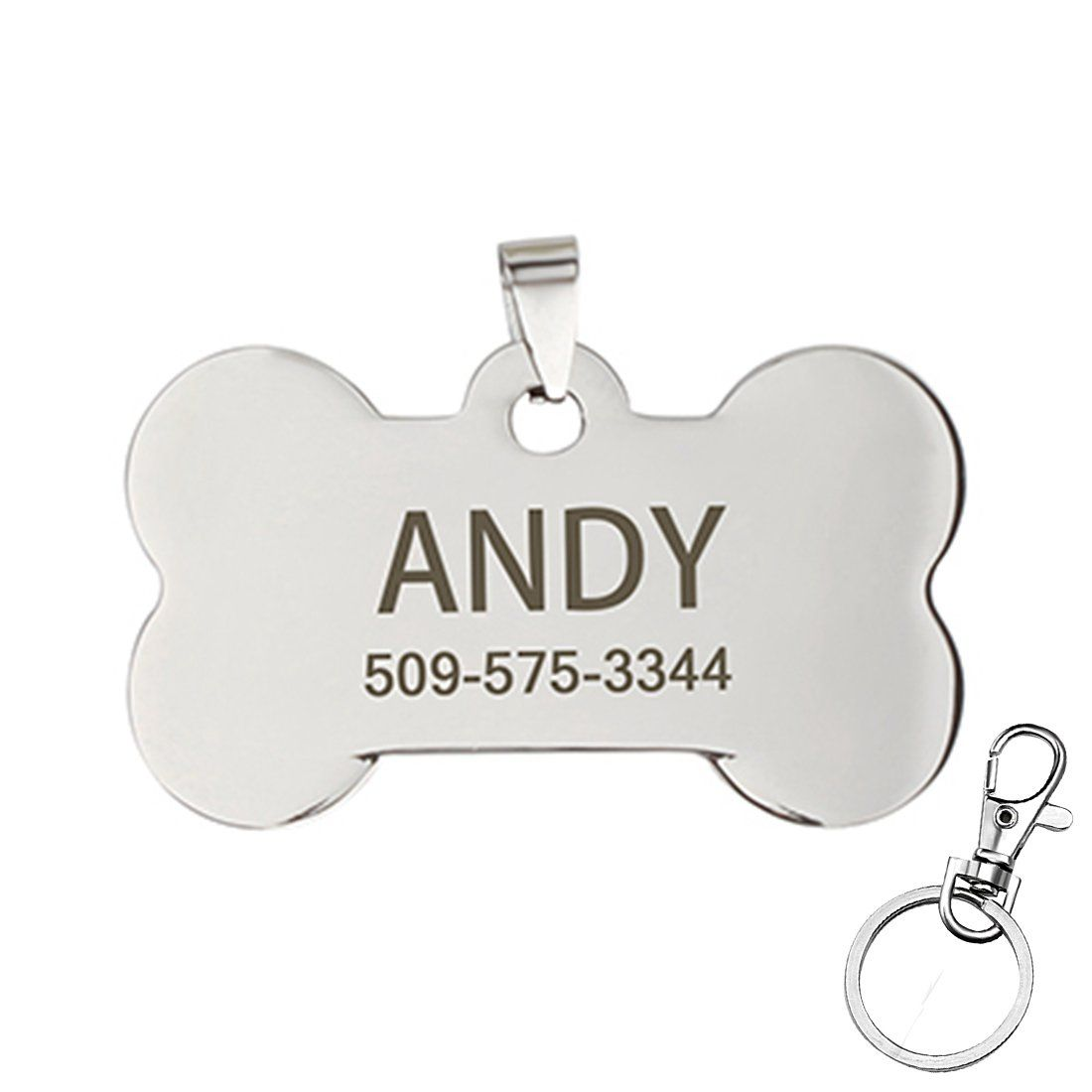 Carrywon Stainless Steel Antiallergic Pet Id Tags Personalized Customized Dog Tags Dogtags Pet Id Tags Pet Id Dog Tags