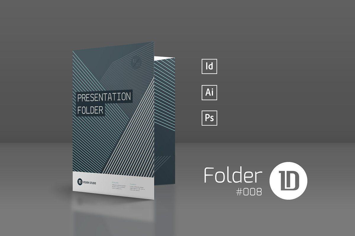 Ad: Presentation Folder Template 008 by ID Vision Studio on Creative Market. ---...