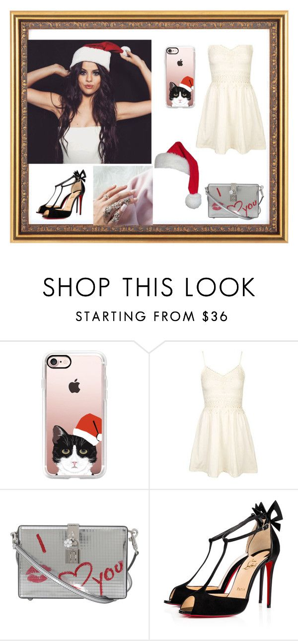 """""""Untitled #245"""" by sonja-658 ❤ liked on Polyvore featuring Casetify, Topshop, Dolce&Gabbana and Christian Louboutin"""