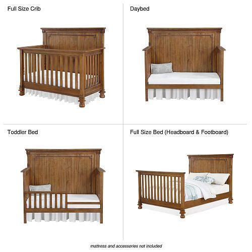 Bertini Beckem 4 In 1 Convertible Crib Antique Natural Bertini
