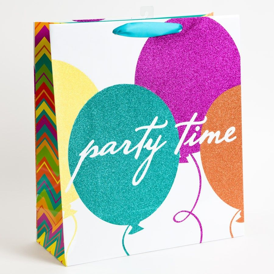 Party Time Glitter Balloons Jumbo Gift Bag Price 895 Happy Birthday Parties Balloon