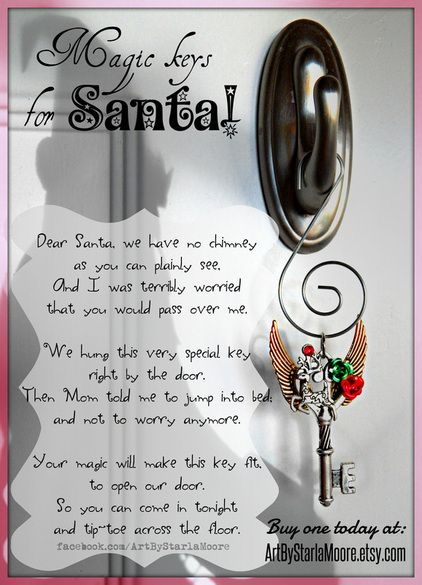 What a cute idea! Be sure to stop by ArtByStarlaMoore.etsy.com to check out the newest Fantasy Keys to celebrate the Holiday Season!