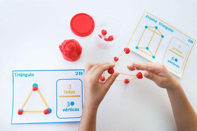 Aprendiendo Geometría Con Plastilina Y Palillos Imprimible Mumuchu Manualidades Educativas Figuras Geometricas Para Niños Imagenes De Prismas