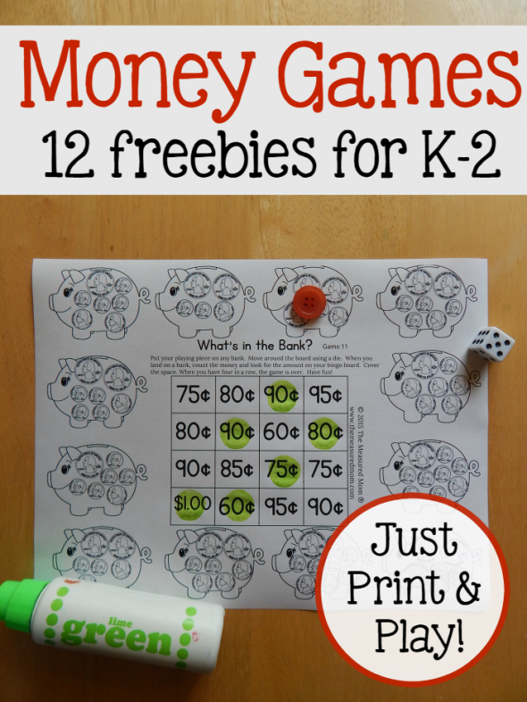 Free money games for K-2 - with American, Canadian, and ...