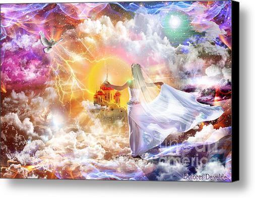 Promised Land Canvas Print / Canvas Art by Dolores Develde   Art, Prophetic art, Sale artwork