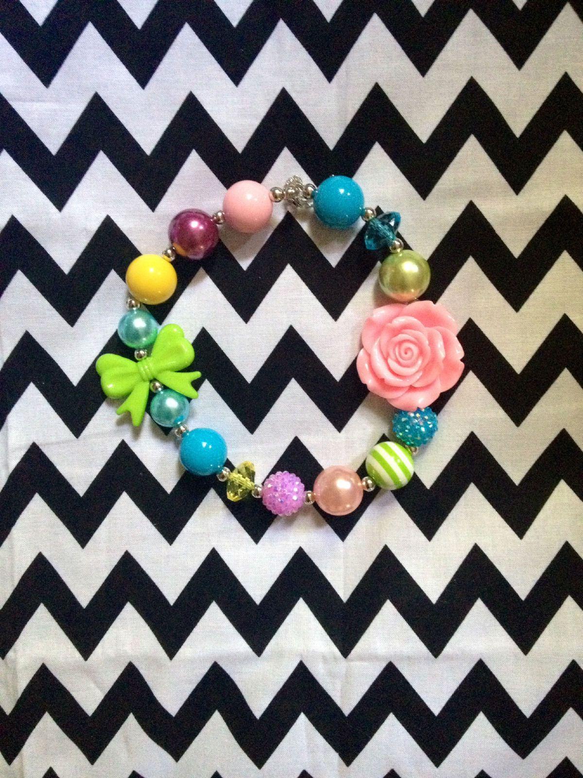 Summer Bubblegum Chunky Necklace | eBay