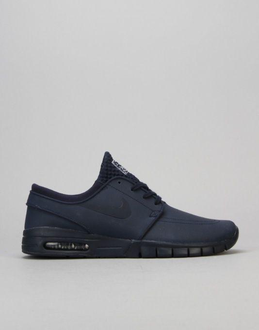 detailed look 7b108 02f54 Nike SB Stefan Janoski Max L Shoes - Obsidian Obsidian White