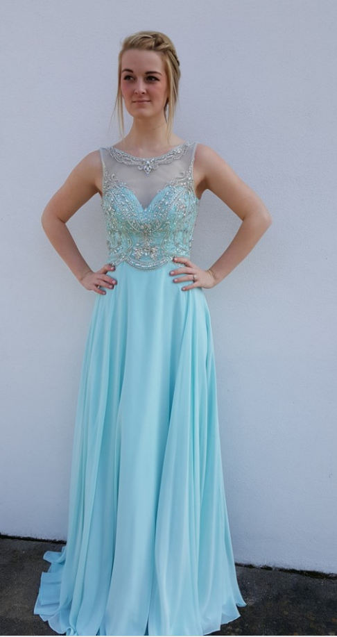 Prom Dresses,Chiffon Prom Gowns,Sparkle Prom Dresses,Long Party ...