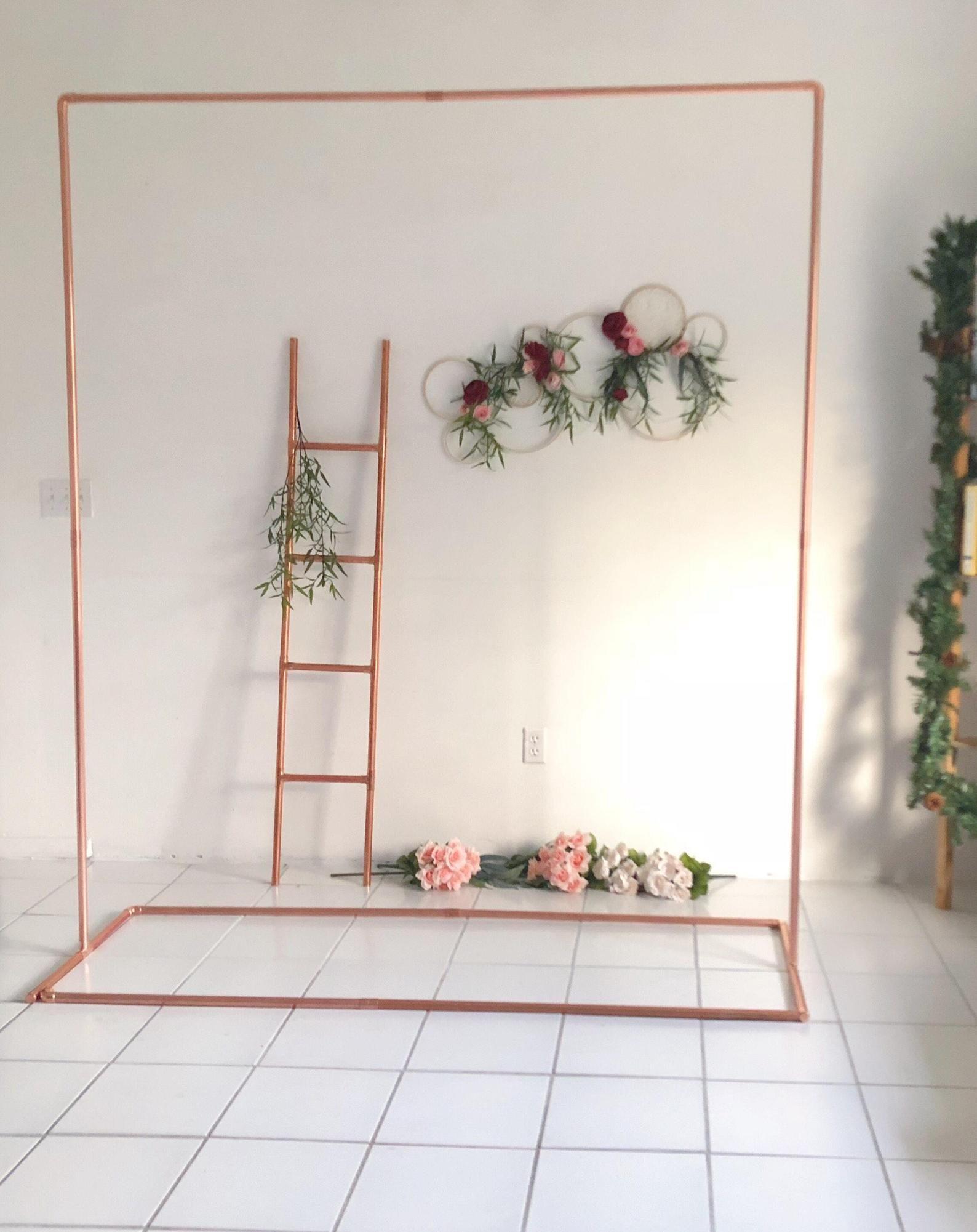 Copper backdrop no 5 wedding backdrop wedding arch