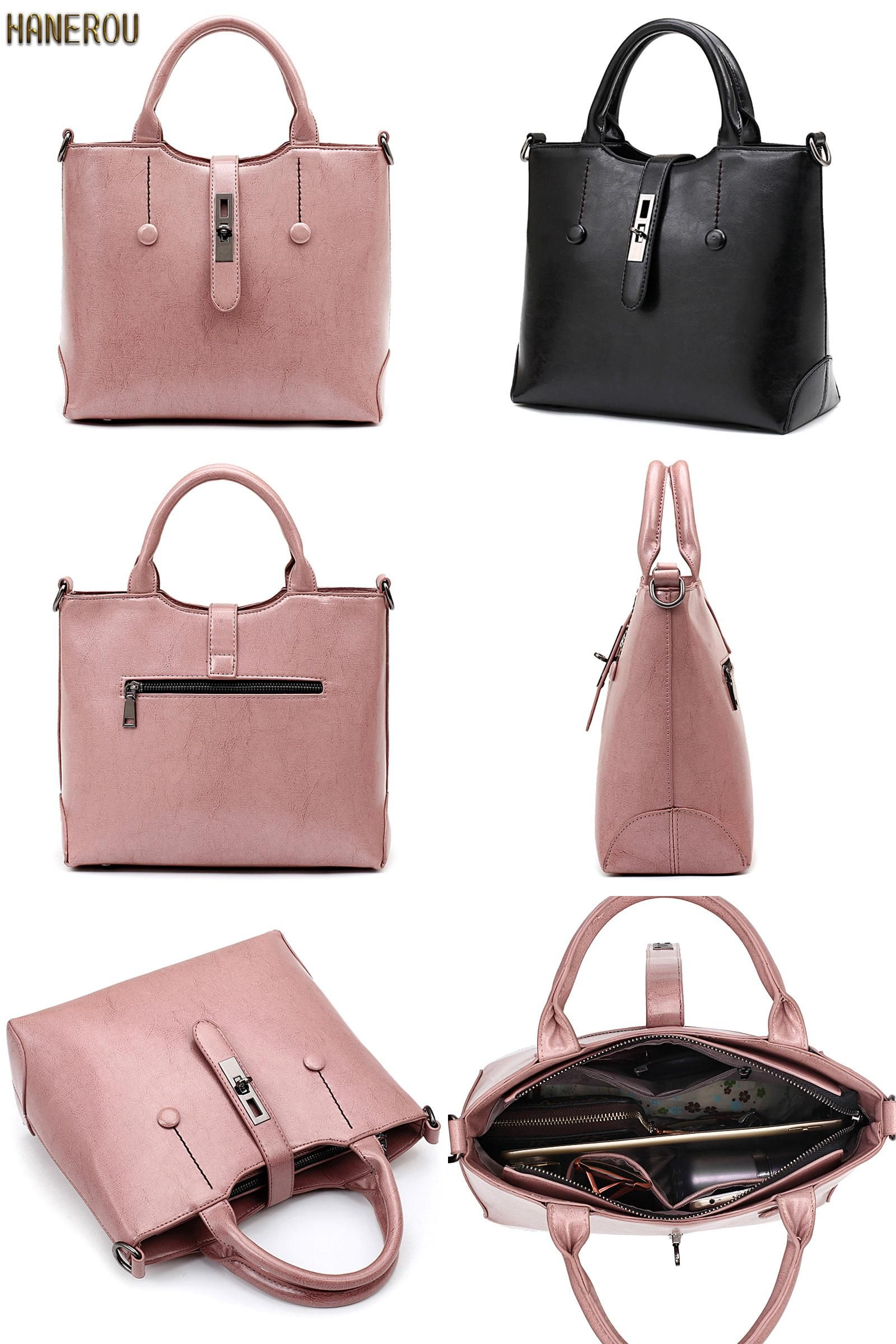 74e6ed5e9b2a  Visit to Buy  Famous Brand Ladies Hand Bags PU Leather Women Bag Casual  Tote