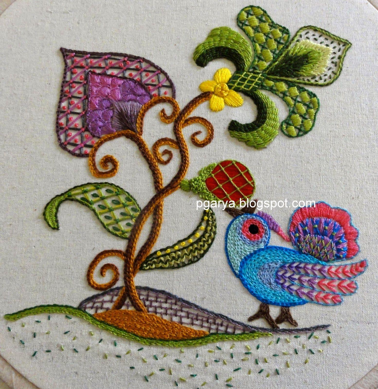 Jacobean crewel work google search embroidery pinterest