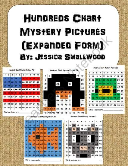Hundreds Chart Mystery Pictures Expanded Form Expanded Form