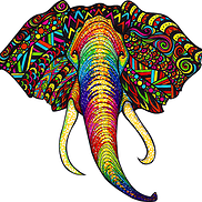 Elephant Artwork - Put on any item....the choice is yours (phone cases, apparel, bags, hats, puzzles, etc.)!