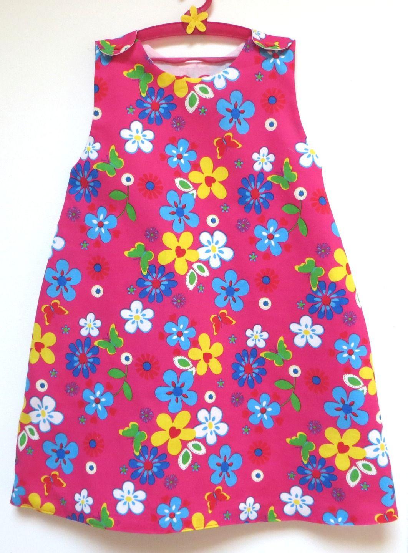 d7adc4b2ee51b robe fille coton fleurs 4 5 ans   Mode filles par 4pommes