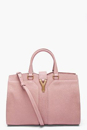 YVES SAINT LAURENT Mini Pastel Pink Cabas Chyc Bag!  Pretty in Pink and Perfect for me. Skee-Wee!