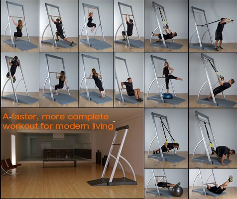 ultimate freestanding gym  no equipment workout at home