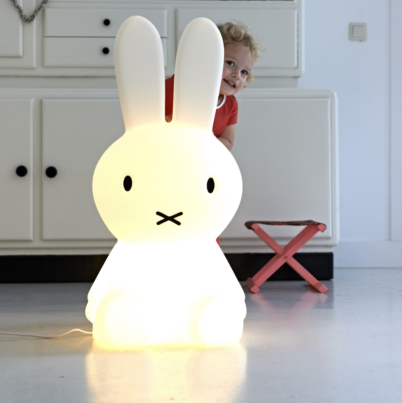 Lampe Veilleuse Lapin Miffy lampe lapin, enfants, miffy xl, blanc, h80cm - mr maria