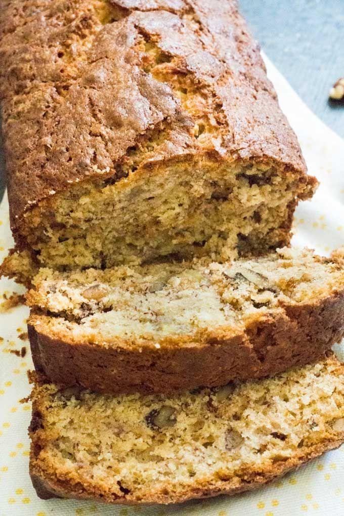 Walnut Banana Bread Recipe Banana Walnut Bread Sweet Banana Bread Desserts