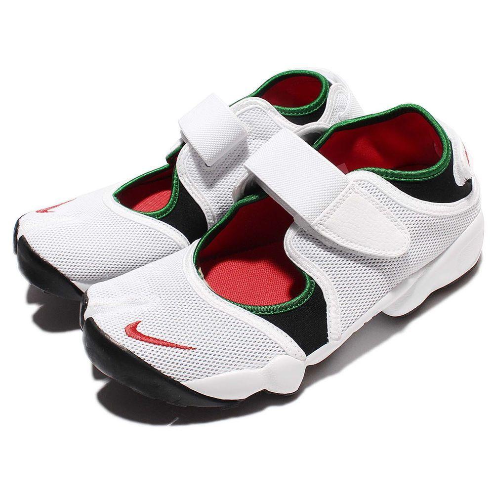 Wmns Nike Air Rift White Atom Red Green