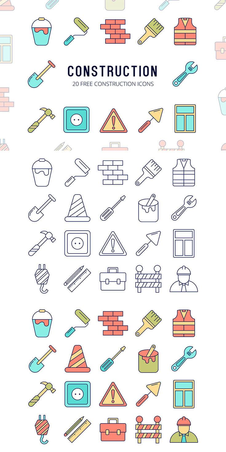 Free Construction Vector Icon Set Icon set, Vector icons