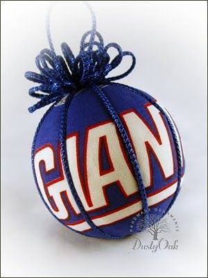 This fun NY Giants kimekomi style Christmas ornament was a challenge to cut  out and match - Pin By Sandy Kalnasy On My Creations New York Giants, Ornaments