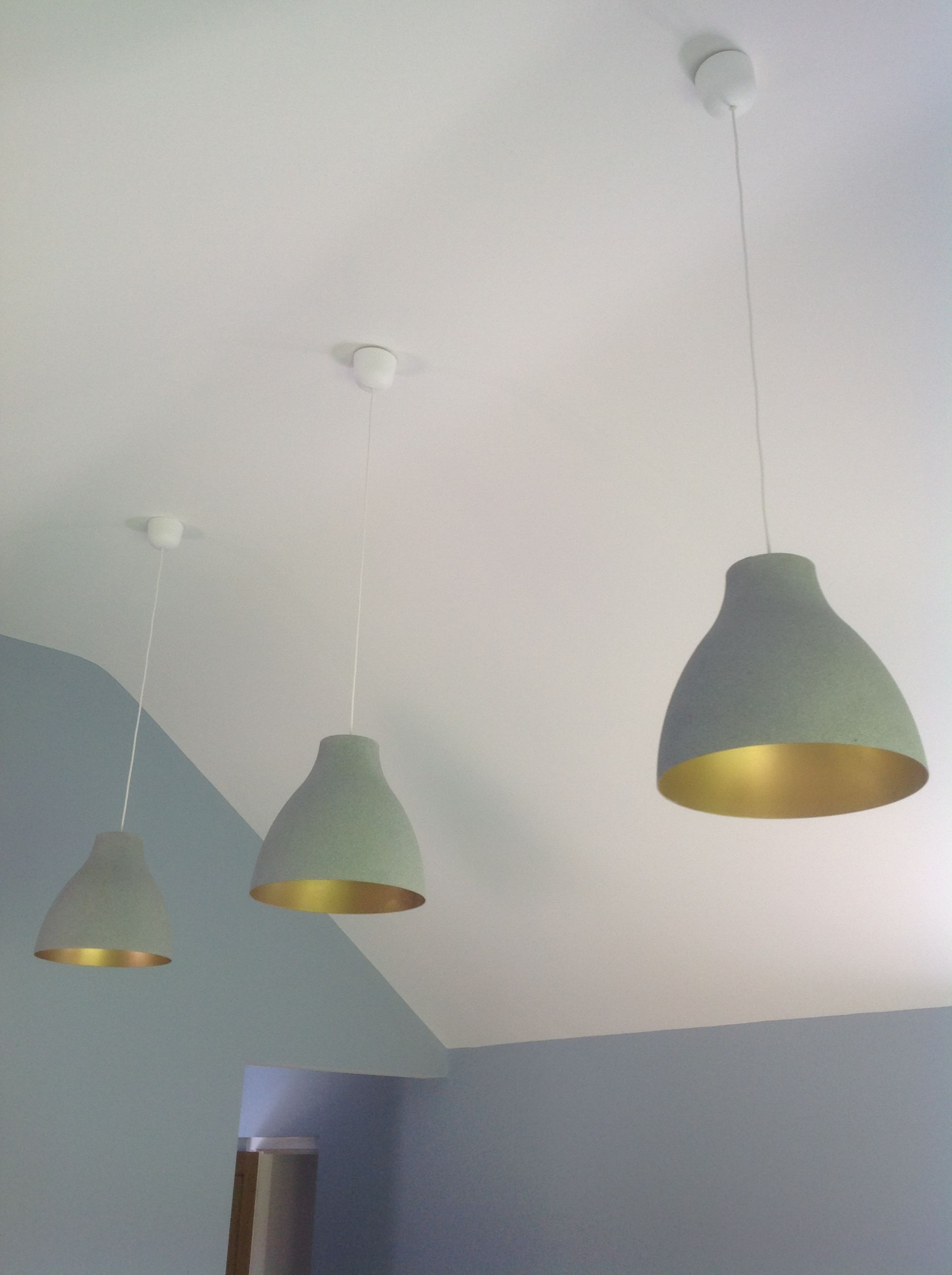 Ikea hack. Melodi white plastic lampshades transformed … in ...
