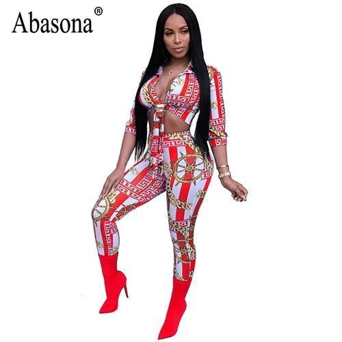 3adf06652ef0 Abasona 2018 Printed Rompers Womens Jumpsuit Sexy Deep V-Neck Half Sleeve  Bandage Bodycon Jumpsuit