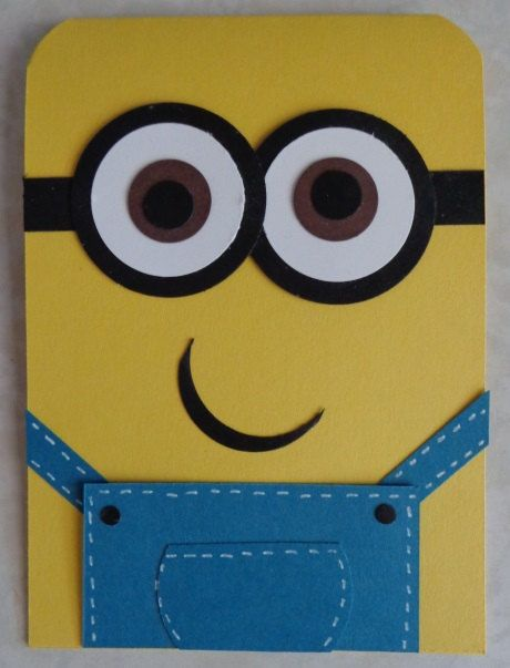 Handmade Despicable Me Punch Art Minion Card By Handmadebyalysia