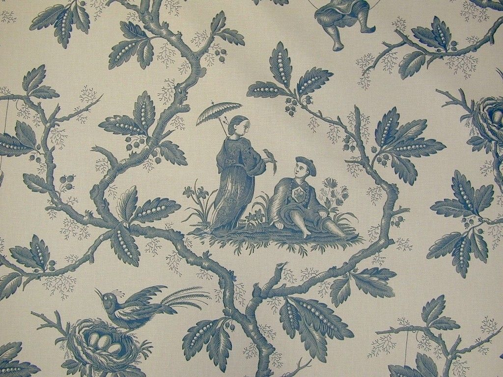 Colefax & Fowler Chinese Toile Cotton Curtain Fabric