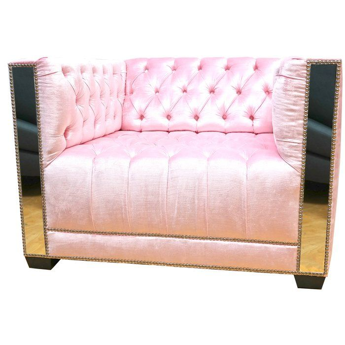 Office Glam | Pink gold office, Tufted armchair and Armchairs