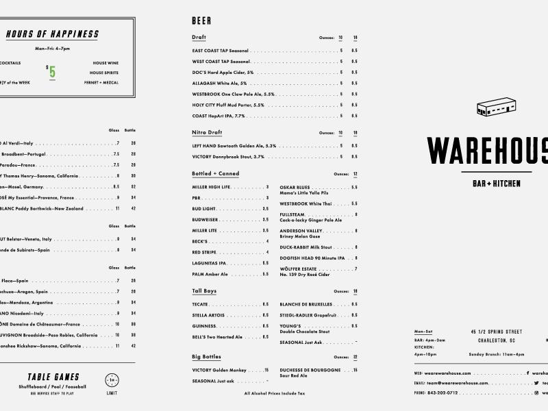 Bar Kitchen Bar Menu Design Restaurant Design
