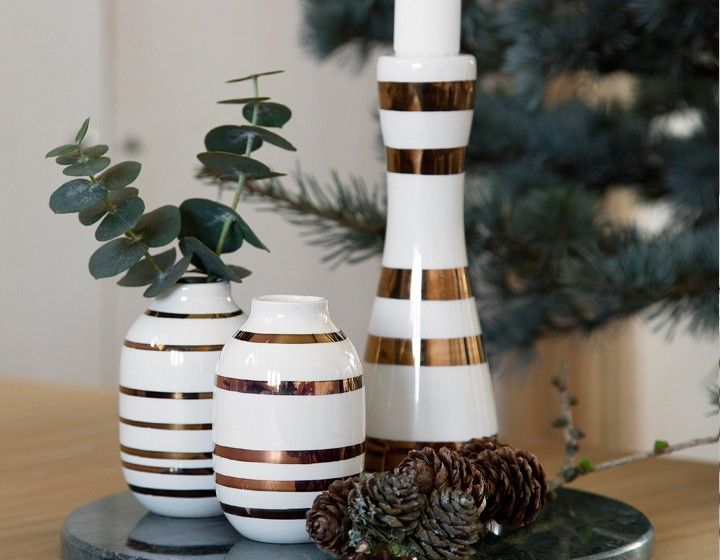 Omaggio Mini VasenSet, ChristmasEdition in gold von