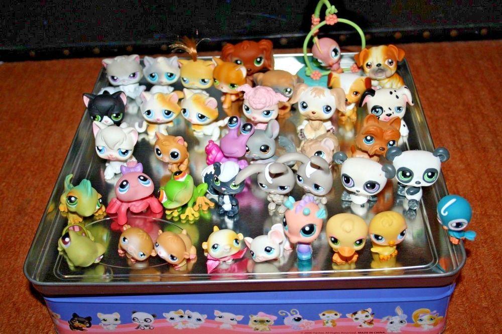 Littlest Pet Shop Lps Bundle Pets Figurines Genuine Tin Box