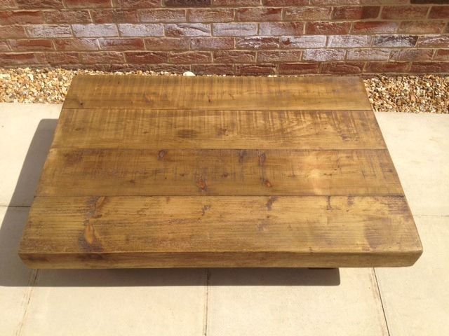 Ft X Ft Wood Coffee Table Chunky Rustic Beam Ideas For - 4ft coffee table