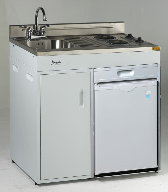 Avanti CK3616 36 Inch Combination Kitchen With 2.2 Cu. Ft. Reversible Door  Swing Refrigerator