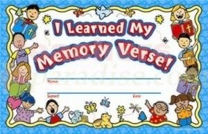 Bible memorization certificates learned my memory verse for Bible study certificate templates