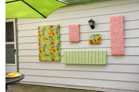 Vinyl Tablecloths Made Into Wall Art Easy Diys And My