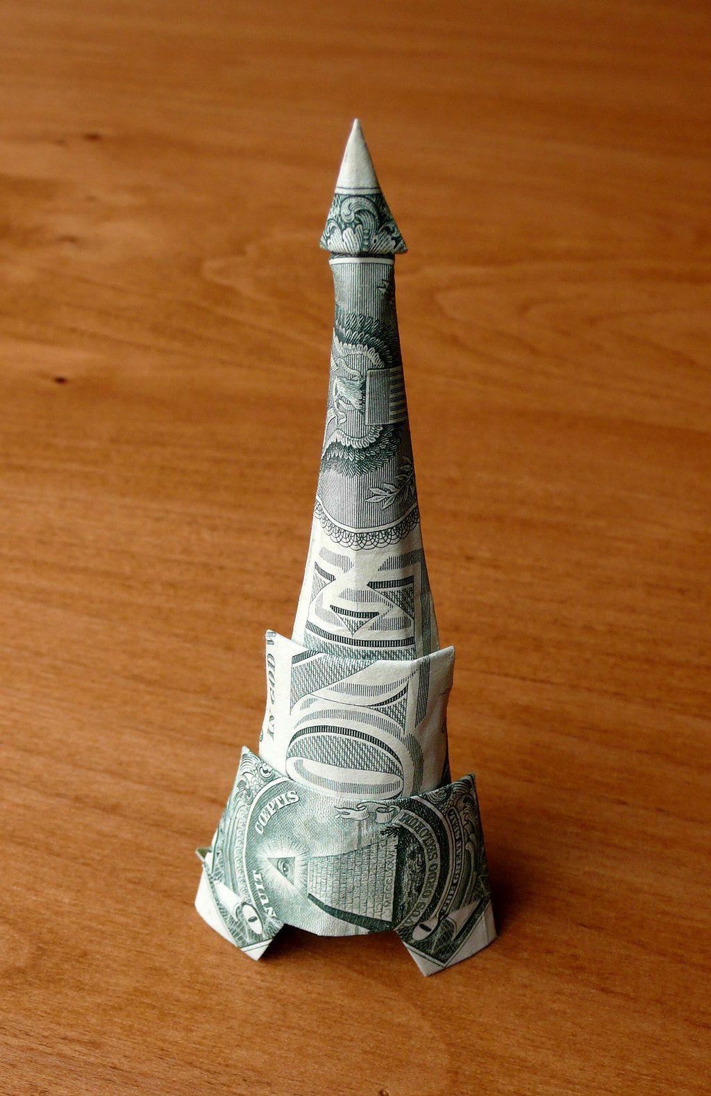 Origami- Eiffel Tower (easy) - YouTube | 1579x1024