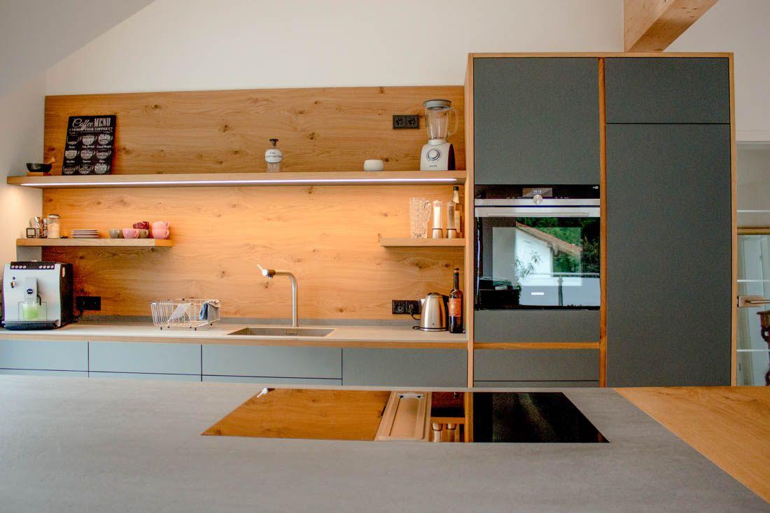 Küche Linoleum / Eiche, Bora in 2020 | Arbeitsplatte küche ...