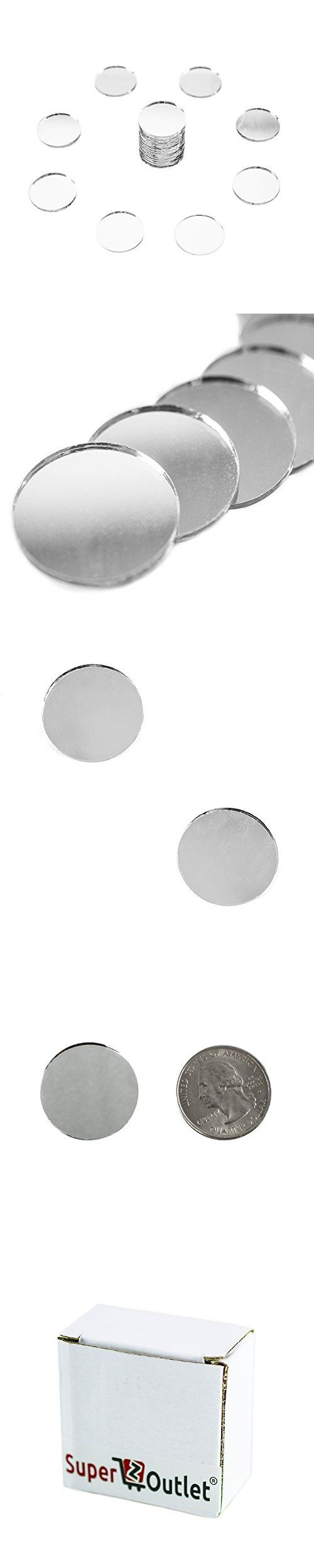 "Mini 1/""Inch Small Round Glass Mirror Circles for Art /& Craft Decoration-50 Piece"